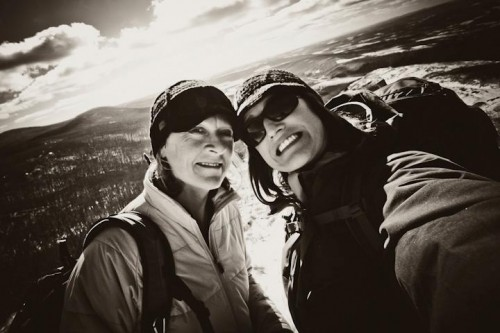 Me and Mom on the summit of Mt. Alander