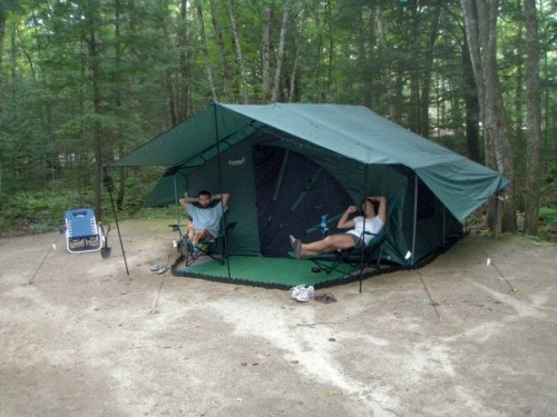 Camping at Papoose Pond