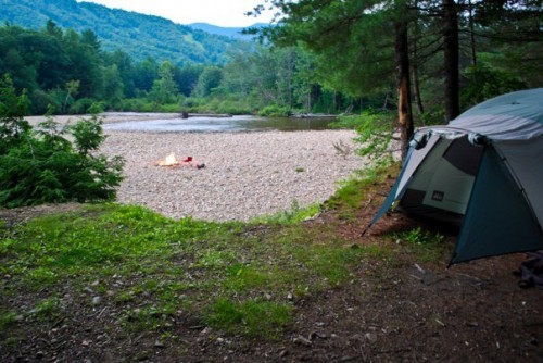 Private camp site in NH