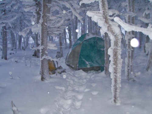 Our campsite on Lafayette