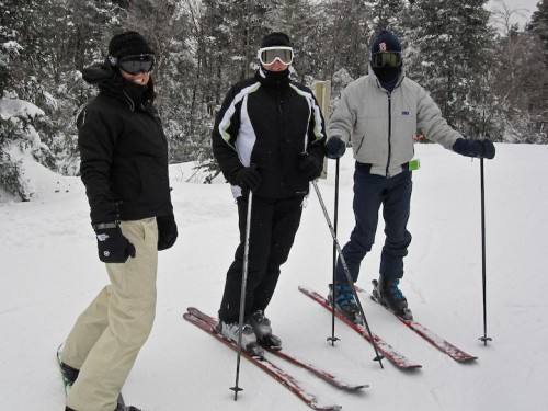 Auntie JoJo and Uncle Jim and I at Mt. Sunapee