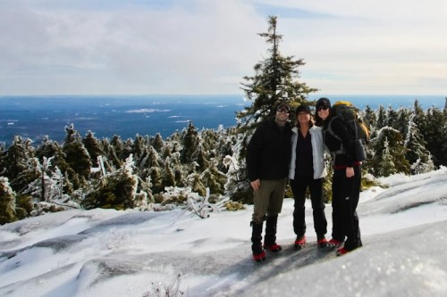 Me, my bro and my mum on the summit of Mt. Kearsage