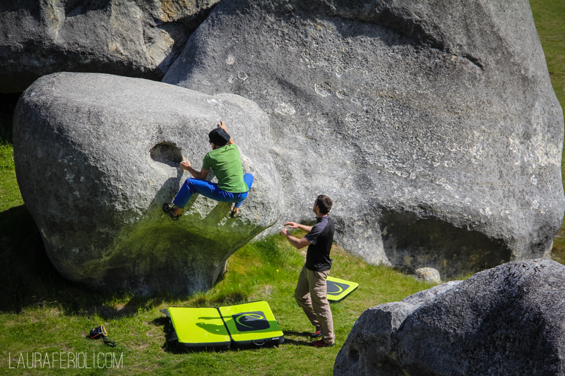 Bouldering with the Germans