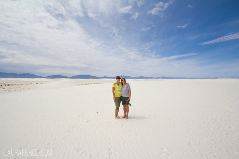 Jude and Laura at White Sands Nat. Monument