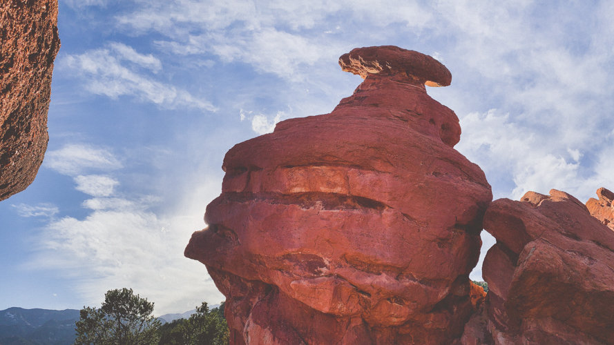 Photos of the rock formations at Garden of the Gods